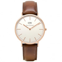 Buy Daniel Wellington 0106DW Classic St Andrews Gents Brown Leather Watch online