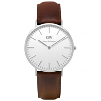 Buy Daniel Wellington 0209DW Classic Bristol Gents Brown Leather Watch online