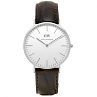 Buy Daniel Wellington 0211DW Classic York Gents Brown Leather Watch online