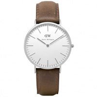 Buy Daniel Wellington 0210DW Classic Cardiff Gents Brown Leather Watch online
