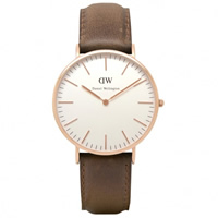 Buy Daniel Wellington 0110DW Classic Cardiff Gents Brown Leather Watch online