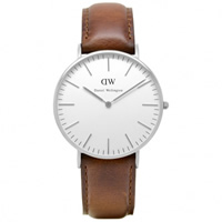 Buy Daniel Wellington 0607DW Classic St Andrews Ladies Brown Leather Watch online