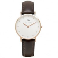 Buy Daniel Wellington 0903DW Classy Bristol Ladies Brown Leather Watch online