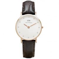 Buy Daniel Wellington 0902DW Classy York Ladies Brown Leather Watch online