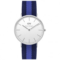 Buy Daniel Wellington 0603DW Classic Nato Swansea Ladies Navy and Blue Nylon Watch online