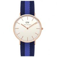 Buy Daniel Wellington 0504DW Classic Nato Swansea Ladies Navy and Blue Nylon Watch online