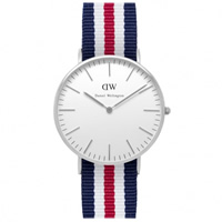 Buy Daniel Wellington 0606DW Classic Nato Canterbury Ladies Nylon Watch online