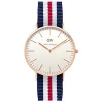 Buy Daniel Wellington 0502DW Classic Nato Canterbury Ladies Nylon Watch online