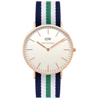 Buy Daniel Wellington 0108DW Classic Nato Nottingham Gents Nylon Watch online