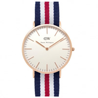 Buy Daniel Wellington 0102DW Classic Nato Canterbury Gents Nylon Watch online