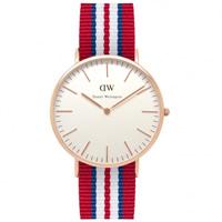 Buy Daniel Wellington 0112DW Classic Nato Exeter Gents Nylon Watch online
