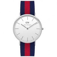 Buy Daniel Wellington 0201DW Classic Nato Oxford Gents Blue and Red Nylon Watch online
