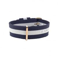 Buy Daniel Wellington 0703DW Nato Glasgow Rose Ladies Blue and White Nylon Strap online
