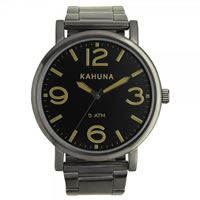 Buy Kahuna Watches Black ion-plated steel Gents Watch KGB-0002G online