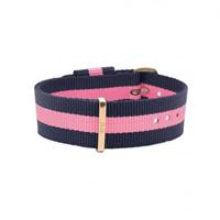 Buy Daniel Wellington 0705DW Nato Winchester Rose Ladies Blue and Pink Nylon Strap online