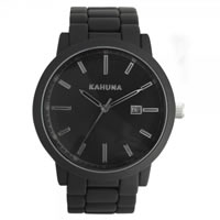 Buy Kahuna Watches Black steel Gents Watch KGB-0007G online