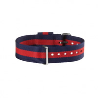 Buy Daniel Wellington 0401DW Nato Oxford Silver Gents Blue and Red Nylon Strap online