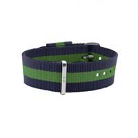 Buy Daniel Wellington 0405DW Nato Warwick Silver Gents Blue and Green Nylon Strap online