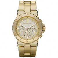 Buy Michael Kors Watches Unisex Chronograph Gold Tone Ion Plated Watch MK5463 online