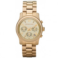 Buy Michael Kors Watches Ladies Chronograph Gold Tone Plated Watch MK5055 online