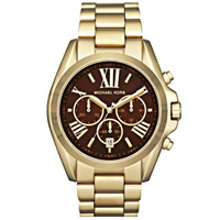 Buy Michael Kors Watches Unisex Chronograph Gold Plated Stainless steel Watch MK5502 online