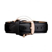 Buy Daniel Wellington 0708DW Classic Sheffield Rose Ladies Black Leather Strap online