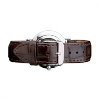 Buy Daniel Wellington 0810DW Classic York Silver Ladies Brown Leather Strap online
