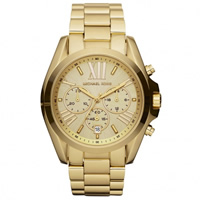 Buy Michael Kors Watches Unisex Chronograph Gold Plated Stainless steel Watch MK5605 online