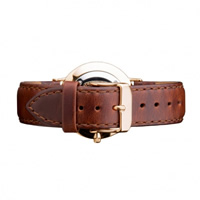 Buy Daniel Wellington 0707DW Classic St Andrews Rose Ladies Brown Leather Strap online