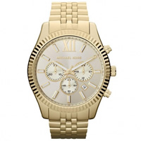 Buy Michael Kors Watches Gents Chronograph Gold tone Watch MK8281 online