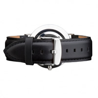 Buy Daniel Wellington 0406DW Classic Sheffield Silver Gents Black Leather Strap online
