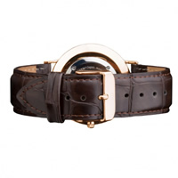 Buy Daniel Wellington 0311DW Classic York Rose Gents Brown Leather Strap online