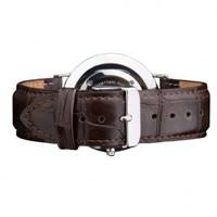 Buy Daniel Wellington 0411DW Classic York Silver Gents Brown Leather Strap online