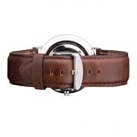 Buy Daniel Wellington 0409DW Classic Bristol Silver Gents Brown Leather Strap online