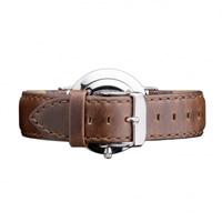 Buy Daniel Wellington 0812DW Classic Cardiff Silver Ladies Brown Leather Strap online