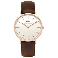 Buy Daniel Wellington 0511DW Classic Bristol Ladies Brown Leather Watch online