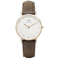 Buy Daniel Wellington 0904DW Classy Cardiff Ladies Brown Leather Watch online