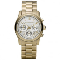Buy Michael Kors Watches Ladies Chronograph Gold Tone Plated Watch MK5305 online