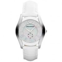 Buy Armani Watches Leather White Womens Watch AR1669 online
