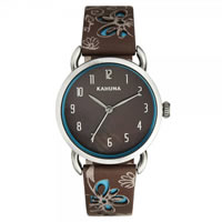 Buy Kahuna Watches Brown Leather Ladies Watch KLS-0249L online