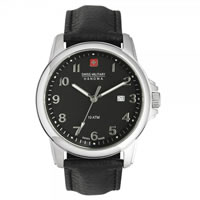 Buy Swiss Military 6-4141-04-007 Swiss Solder & Recruit Black Leather Gents Watch online