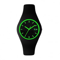Buy Ice-Watch ICE.CY.GN.U.S.13 Ice Unisex Black & Green Silicone Strap Watch online