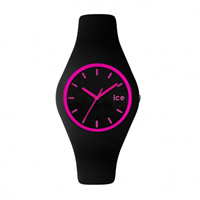 Buy Ice-Watch ICE.CY.PK.U.S.13 Ice Unisex Black & Pink Silicone Strap Watch online