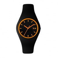 Buy Ice-Watch ICE.CY.OE.U.S.13 Ice Unisex Black & Orange Silicone Strap Watch online