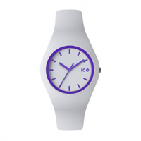 Buy Ice-Watch ICE.CY.PE.U.S.13 Ice Unisex White & Purple Silicone Strap Watch online