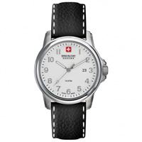 Buy Swiss Military 6-4141-04-001 Swiss Solder & Recruit Black Leather Gents Watch online
