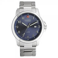 Buy Swiss Military 06-5141-04-003 Swiss Solder & Recruit Blue Dial Stainless Steel Gents Watch online