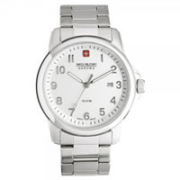Buy Swiss Military 06-5141-04-001 Swiss Solder & Recruit White Dial Stainless steel Gents Watch online