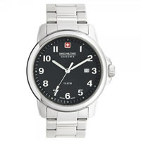 Buy Swiss Military 06-5141-04-007 Swiss Solder & Recruit Black Dial Stainless Steel Gents Watch online