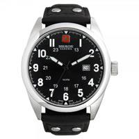 Buy Swiss Military 06-4181-04-007 Swiss Sergeant Genuine Black leather Gents Watch online